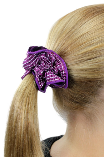 Hair Extensions Scrunchy purple Z014