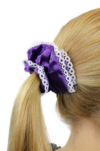 Hair Extensions Scrunchy purple Z018
