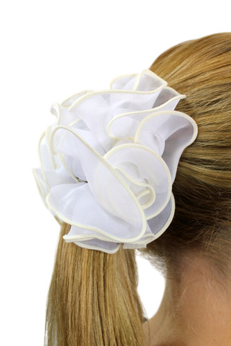 Hair Extensions Scrunchy white Z023
