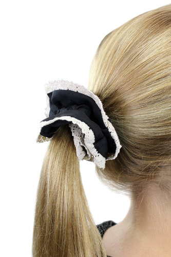 Hair Extensions Scrunchy black Z012