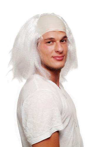 Party Wig white 4232-P68