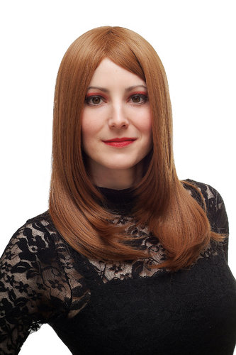 Lady Quality Wig Temptress dark blond red mix sexy parting layered straight SA025-30/27