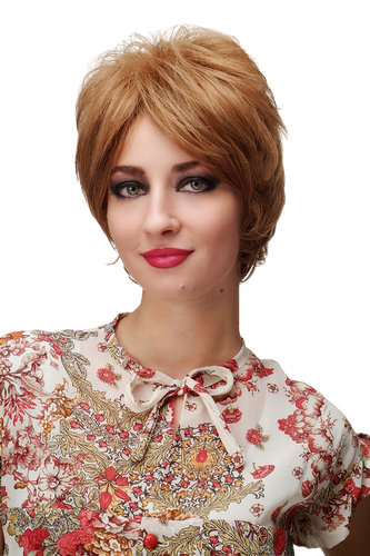 WIG ME UP ® - Lady Quality Wig short middle blond warm dark blond mix 60ies Style SA013-12/26