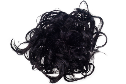 Hair Extensions Scrunchy black JL-0119-2