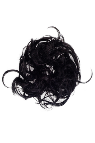 Hair Extensions Scrunchy black JL-0119A-2