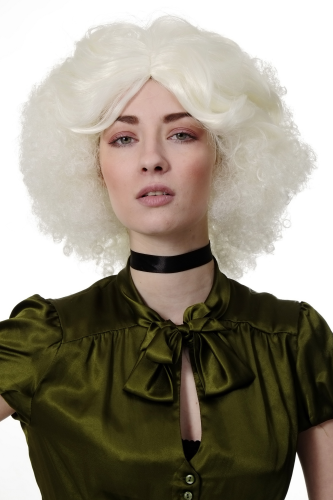 Extravagant Lady Quality Wig huge afro style volume curls curly white blond 60s 70s funk disco
