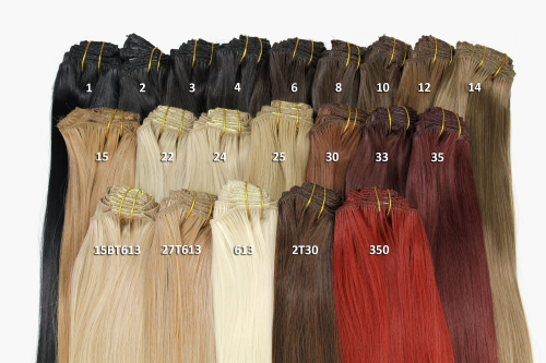 In hair extensions 8 pcs complete set full head different width clip in hair extensions 8 pcs complete set full head different width length 16 inch mahogany brown pmusecretfo Images