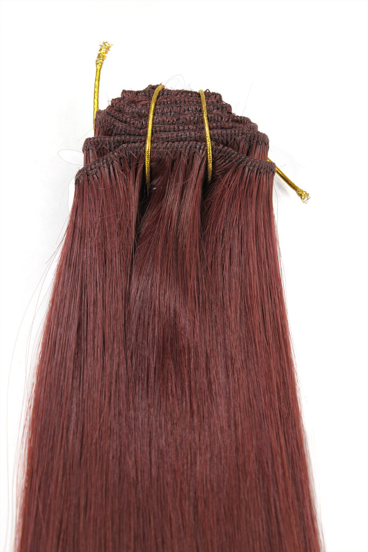 Clip In Hair Extensions 8 Pcs Complete Set Full Head Different Width