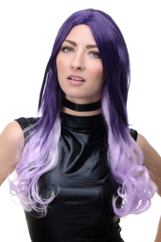 Perücke Cosplay Violett Ombre lang GFW1827-G40