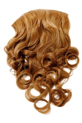 Hairpiece Halfwig 7 Microclip Clip-In Extension curls very long & full strawberry blond 50 cm