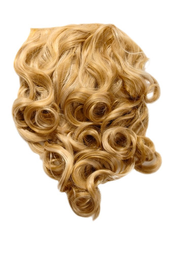 Hairpiece Halfwig 7 Microclip Clip-In Extension curls long & full medium goldblond + bright blond