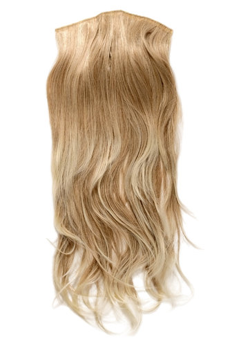 Hairpiece Halfwig 7 Microclip Clip In Extension long straight slight wave wavy mixed blond platinum