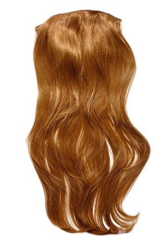 Hairpiece Halfwig 7 Microclip Clip In Extension VERY long straight slight wave wavy strawberryblond