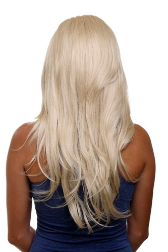 Hairpiece Halfwig 7 Microclip Clip In Extension VERY long straight slight wave wavy
