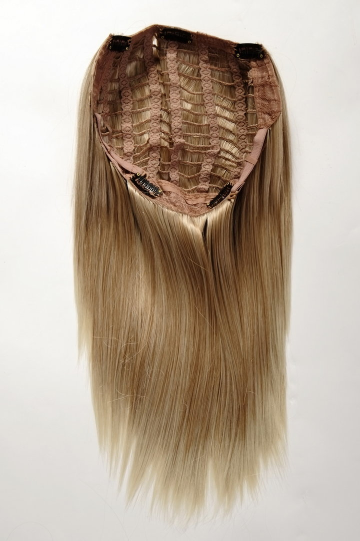 Half wig clip in hair extension 5 micro clips long straight hairpiece half wig clip in hair extension 5 micro clips long straight strawberryblond brightblond pmusecretfo Images