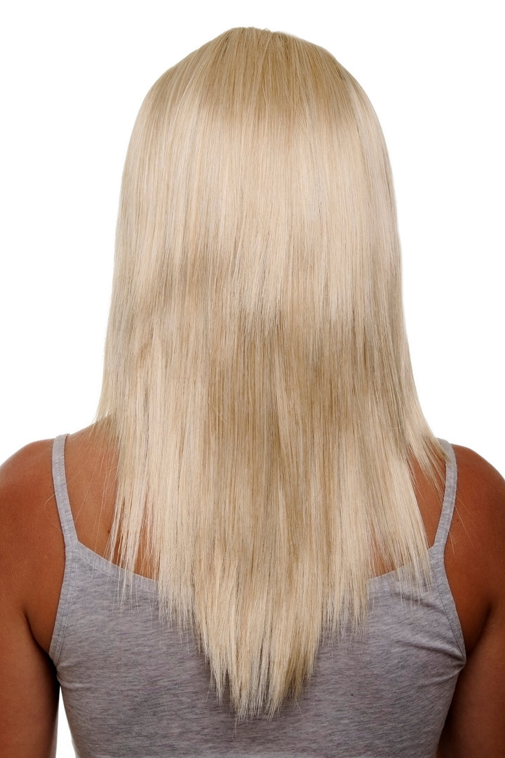Hairpiece Half Wig Clip In Hair Extension 5 Micro Clips Long