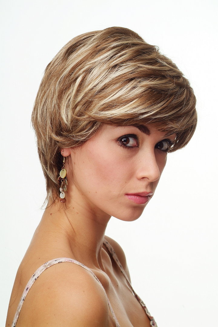 damenper cke kurz braun blond str hnen scheitel ch 1309. Black Bedroom Furniture Sets. Home Design Ideas