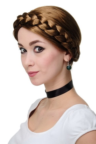 Party/Fancy Dress Wig Women Lady thick braid BROWN traditional German Ukrainian Russian Princess