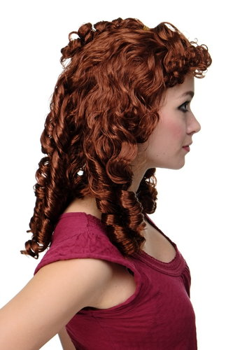 Party/Fancy Dress historic Cosplay Lady WIG brown baroque renaissance Countess French Aristocracy