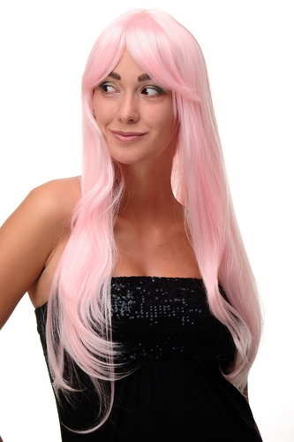 Lady Quality Wig Cosplay very long long bangs fringe can part to side straight bright pink