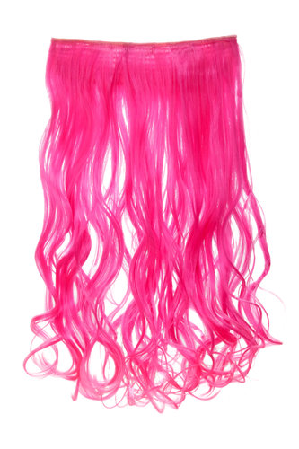 Haarteil Extension breit 5 Clips wellig Neonlila-Neonpink-Mix YZF-3180-T1855TT2124