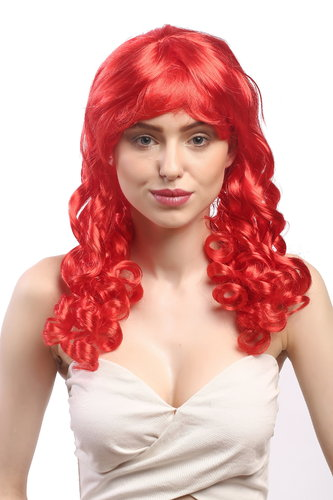 Lady Party Wig Halloween Gothic Lolita long baroque colonial romantic corkscrew curls coils red 20""
