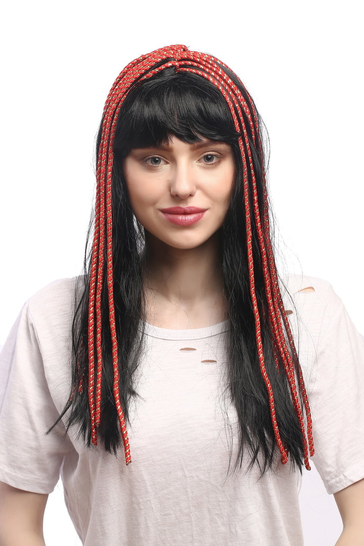 Synthetic white STRAIGHT hair FANCY DRESS **SALE** Halloween dress up