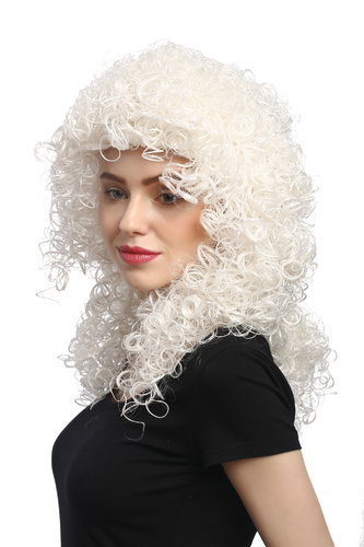Lady Party Wig Halloween Fancy Dress Christmas Angel Angelic White Blond curls curly volume