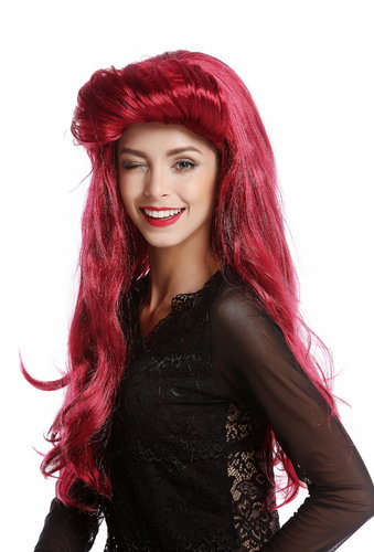 91313-ZA13A/ZA67A Wig Ladies Women Halloween Carnival Vamp Diva long red quiff 70s 80s Vintage Look