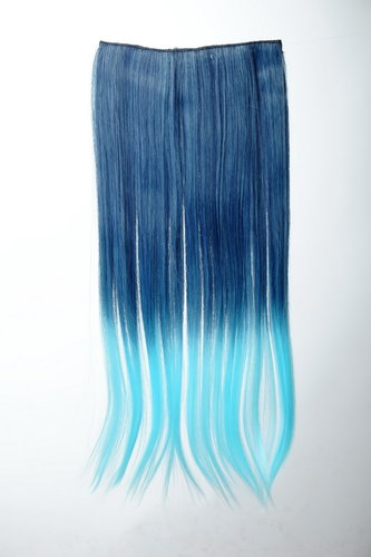 5 Clips Clip-In Extension Ombre Blau YZF-3179P-T4027TTF2513