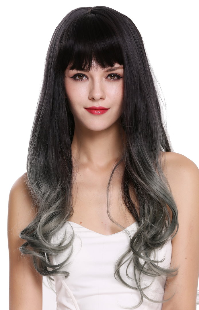 Layered Long Wavy Dark Brown Women Lady Hair Full wig Cosplay Costume Party Wigs
