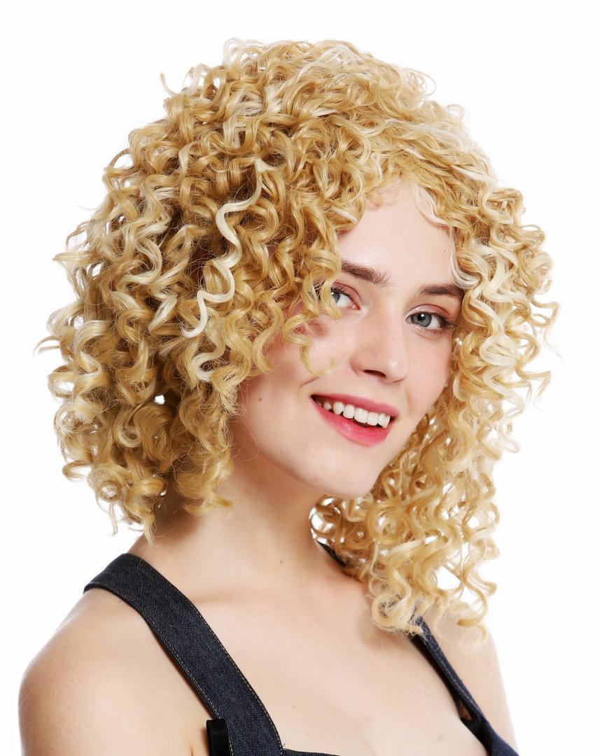 Perucke Voluminos Locken Blond Platin Gestrahnt Yzf 7283a 86h613