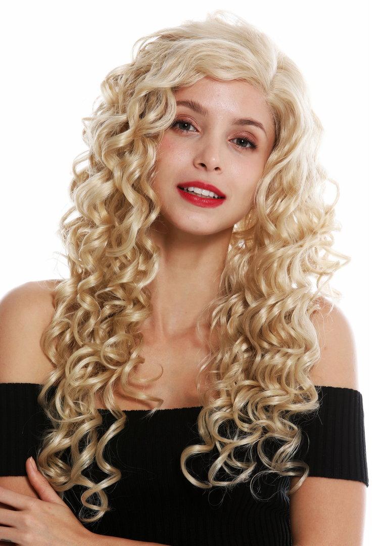 Perucke Teil Mono Seitenscheitel Lace Front Lang Locken Blond Vk 17 Mf 24bsp613