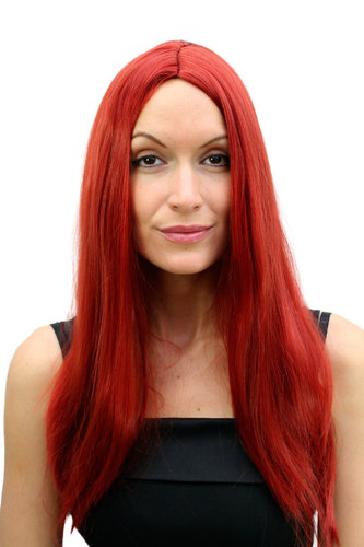 Party/Fancy Dress/Halloween Lady Wig REDHEAD red LONG straight middle parting TH30-KII135