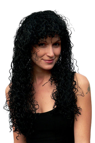 Party/Fancy Dress WIG seductive Vamp CARIBBEAN LATIN style curly kinky AMAZING VOLUME long BLACK