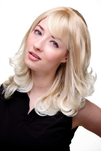 CUTE Lady Quality Wig BLOND MIX blonde CURLED platinum ENDS (3019 Colour 27T613)