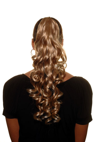 Hairpiece PONYTAIL long curls BLOND Mix (NC218 Colour 27T613) blonde Extensions