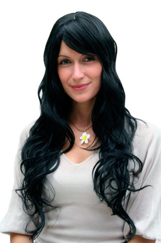 STUNNINGLY BEAUTIFUL black Lady QUALITY Wig wavy long (9317 Colour 1B)