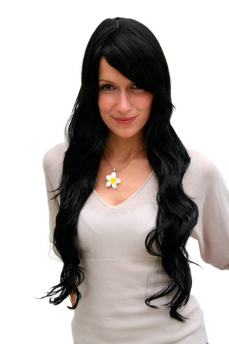STUNNING Lady Quality WIG black VERY long (9321L Colour 2)