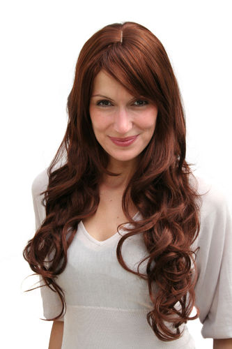 REDHEAD foxy WIG dark red JEZEBEL sexy LONG waves (9204S Colour 33A130)
