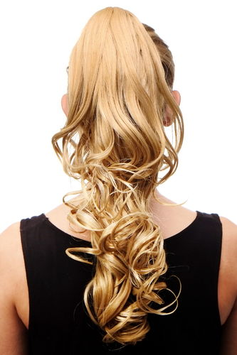 Hairpiece PONYTAIL medium length curls BLONDE BLOND supertight Butterfly/Claw-Grip