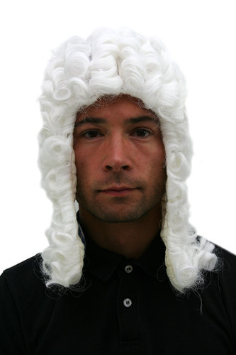 Party/Fancy Dress/Halloween WIG men women unisex WHITE baroque LORD JUDGE aristocrat PW0171-P60