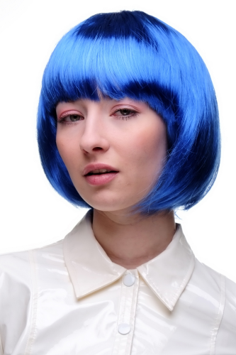 Party/Fancy Dress/Halloween Lady WIG Bob fringe short sexy BLUE disco PW0114-PC3 COSPLAY