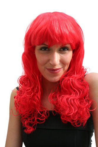 Party/Fancy Dress/Halloween Lady WIG long fire RED fringe curls curly lm-406-KIIC12