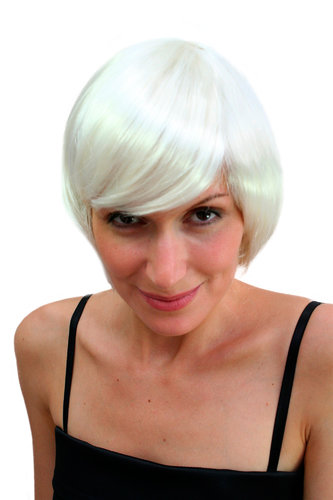 Party/Fancy Dress/Halloween Lady WIG short SEXY Bob PLATINUM BLOND white BURLESQUE PW0058-B80