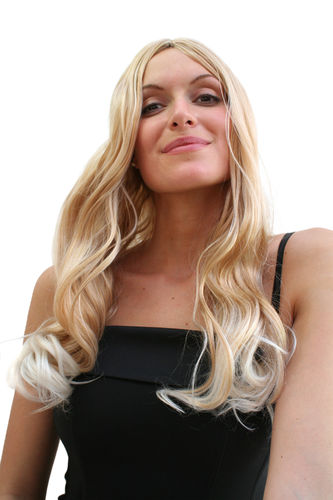 Party/Fancy Dress SEXIEST Lady WIG very long MIXED BLOND platinum slighty wavy ends middle parting