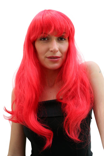 Party/Fancy Dress/Halloween Lady WIG long sinful RED straight FRINGE Hollywood Diva Femme Fatale