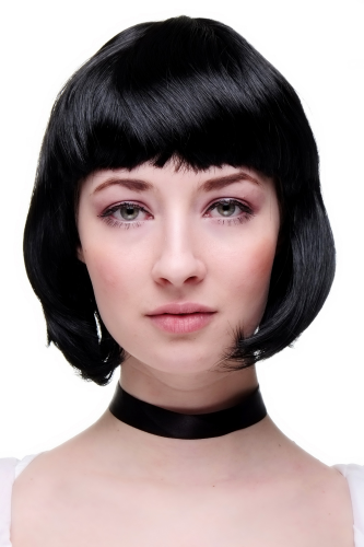 Party/Fancy Dress/Halloween Lady WIG Bob fringe short sexy BLACK disco PW0114-P103 COSPLAY