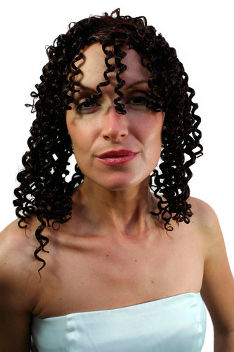 Party/Fancy Dress WIG CARIBBEAN Afro LATIN style very curly kinky BROWN aphrodite GREEK GODDESS