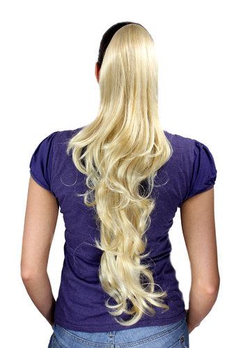 Ponytail/Extension bright BLONDE/BLOND (611) very long, slightly wavy 70 cm